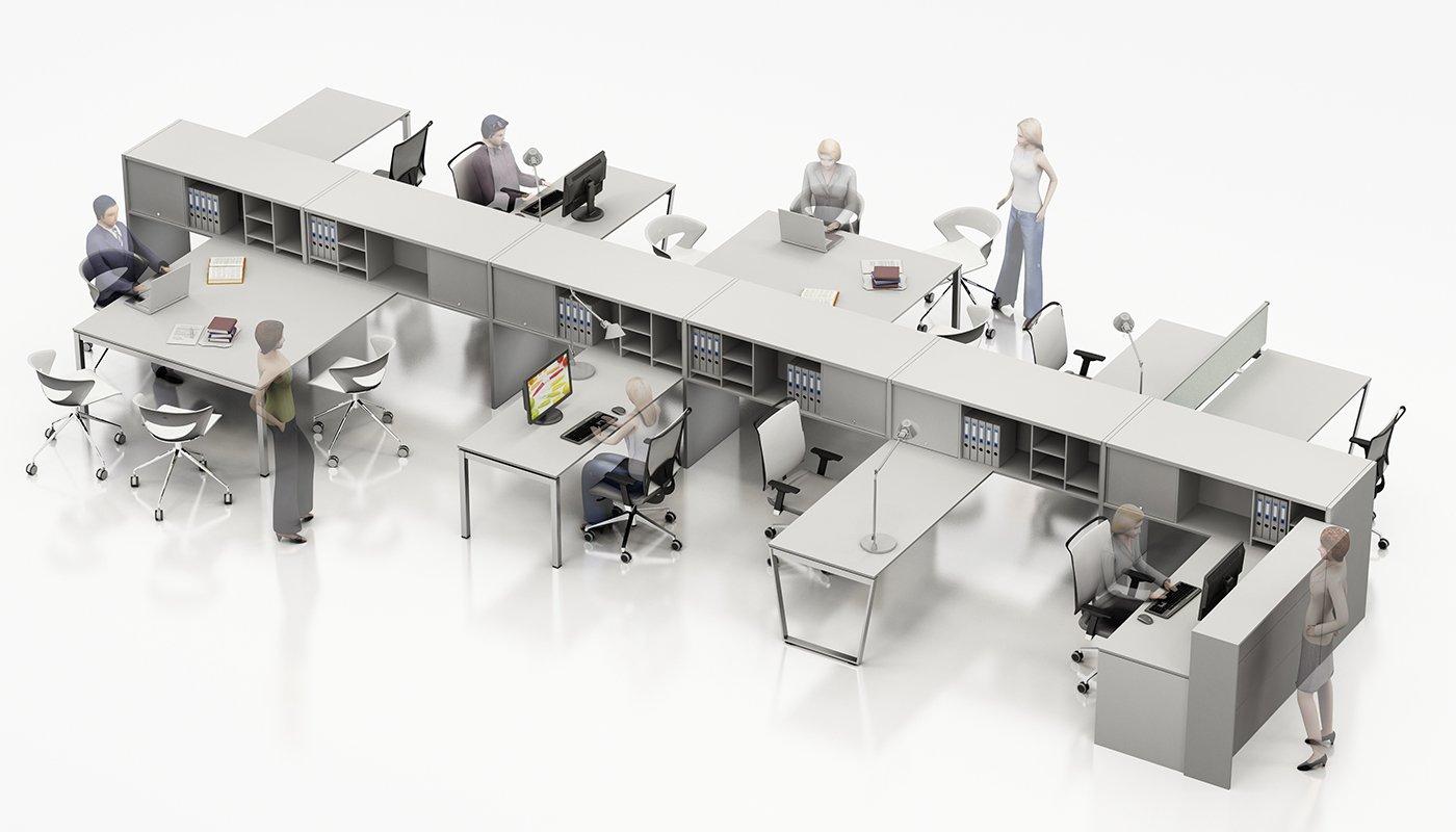 sistema ponte arredamento per ufficio