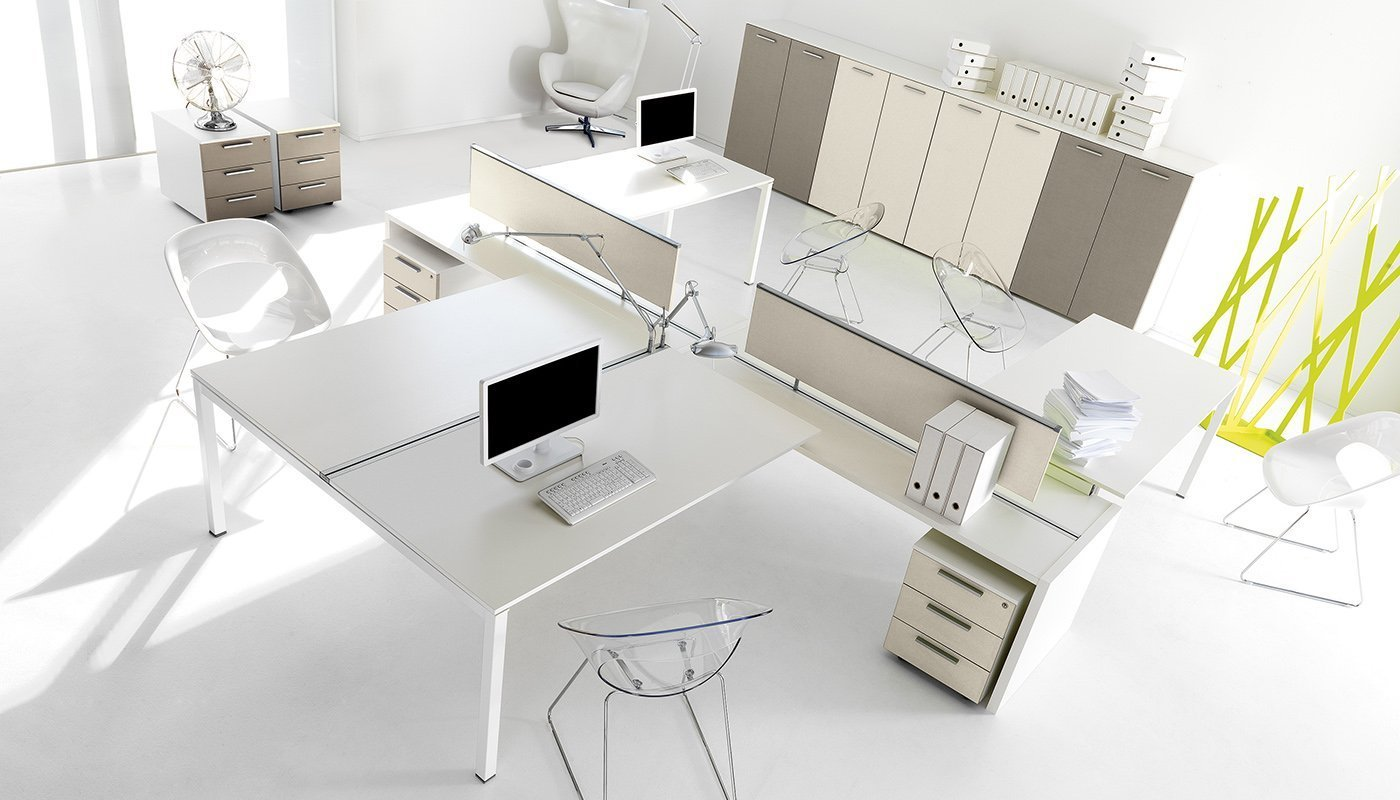Office forniture kosmosystem ivm office for Arredo system