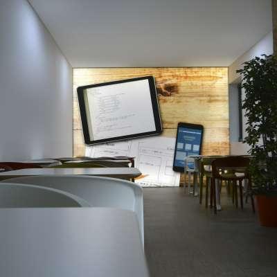 pareti per ufficio light wall