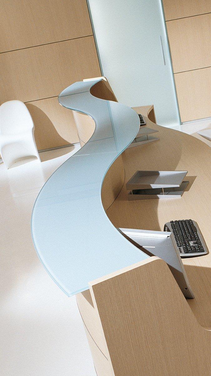 Reception ufficio esedra light ivm office arredamento for Reception per ufficio