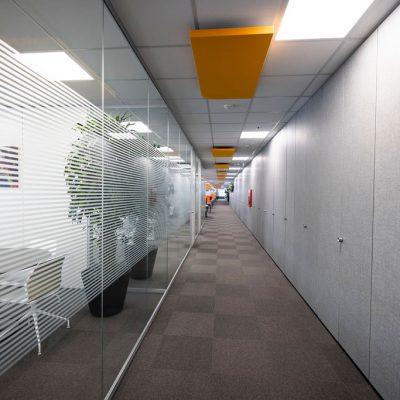 pareti vetro ufficio